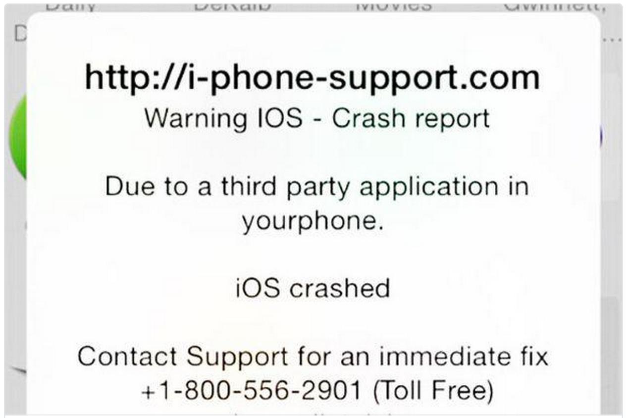 iPhone alert