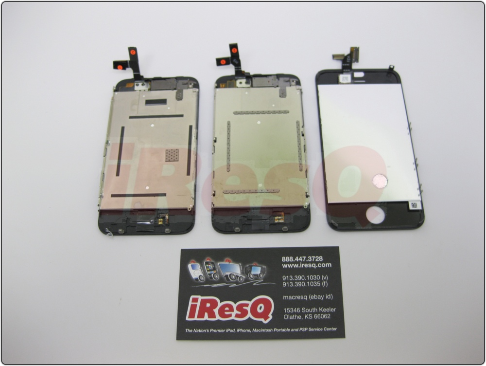 From left to right, you have the iPhone 3G, iPhone 3GS, and the iPhone 4G front panel.