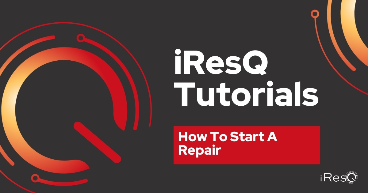 How To Start a Repair