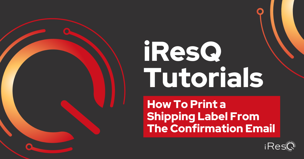 How To Print Shipping Label From Confirmation Email